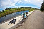 境川サイクリングロードにて
