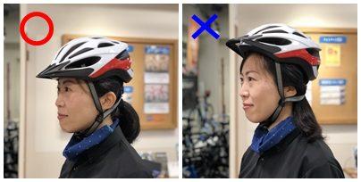 ヘルメットのかぶり方