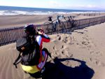 湘南の海とロードバイク