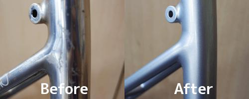 再塗装前と後の比較画像