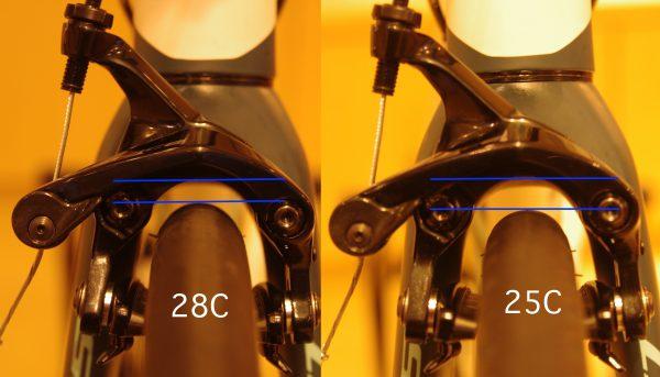 タイヤ幅の比較画像